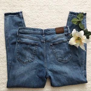 Lucky Brand Bridgette Raw Hem Crop Denim Jeans
